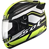 SOL 68s Illusion designer Full Face Helmet (S - 56 - 57 Cms, Flourscent Yellow with Black)