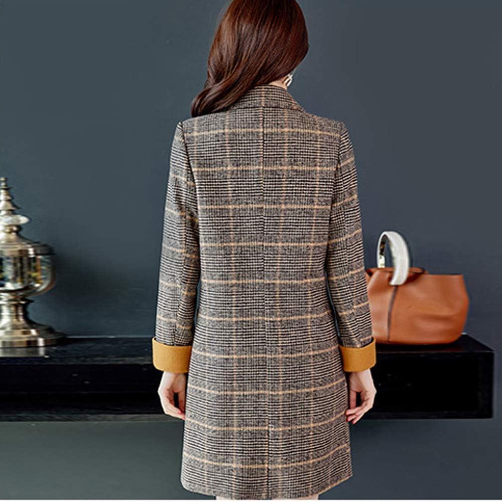 Pandaie Women Winter Parka Jacket Long Wool Trench Coat Elegant Vintage Overcoats Outwear