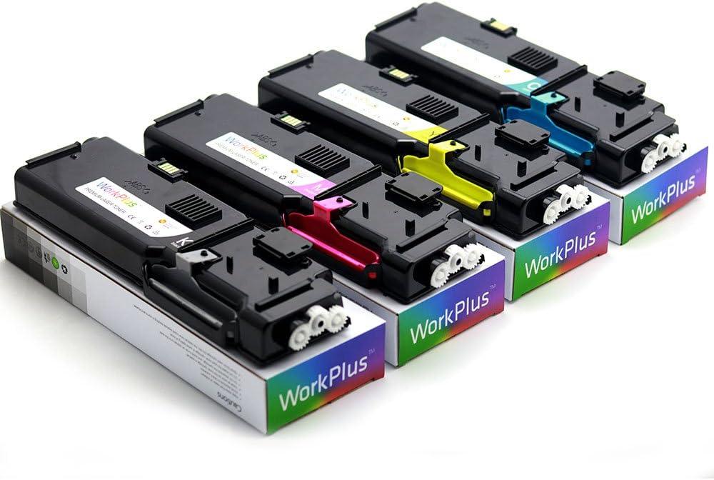 WorkPlus Black 11,000 & Color 9,000 High Yield Compatible for Dell Dell S3840cdn S3845cdn Toner Cartridge (S3840: 4PK)