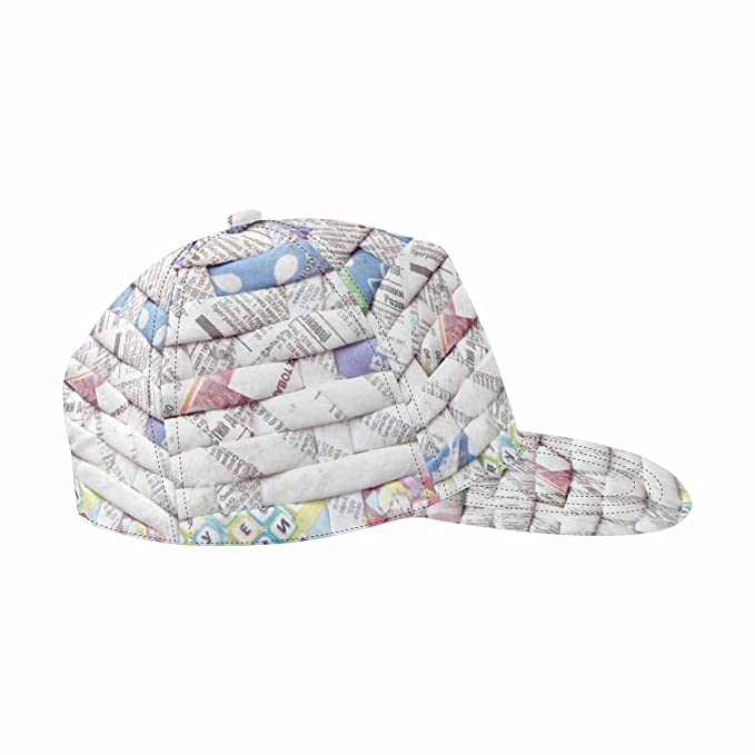 5b183cbcbf172 Image Unavailable. Image not available for. Color  INTERESTPRINT Twisted  Weaving Newspapers Hip-Hop Baseball Cap Flat Snapback Hat