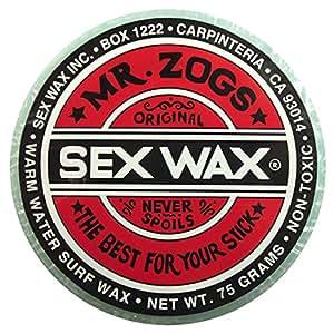 Mr. Zogs Original Sexwax - Warm Water Temperature Pineapple Scented (Aqua-Blue Color)
