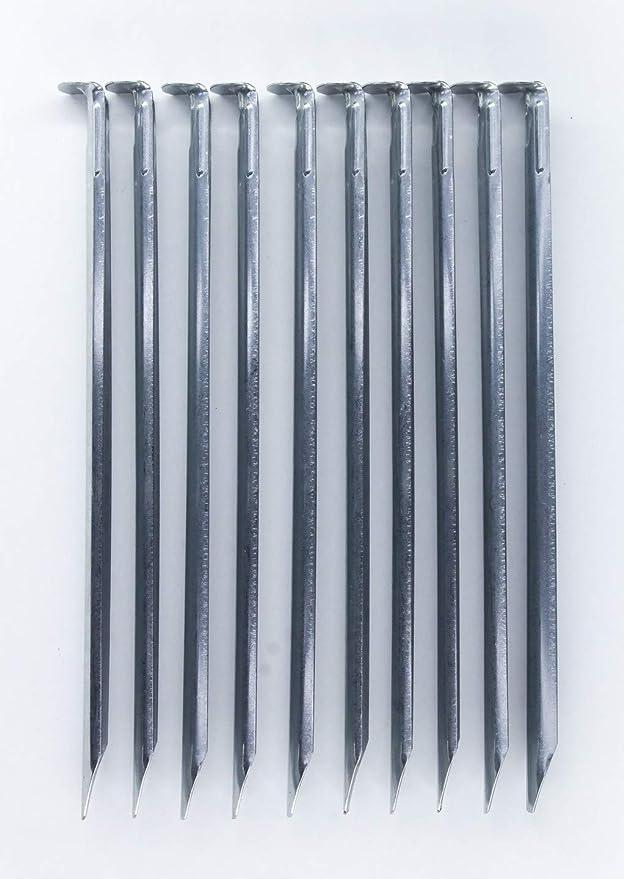 Campfrei 10er Pack Zeltheringe 22 cm Zeltnagel Erdnagel Hering aus verzinkten Stahl