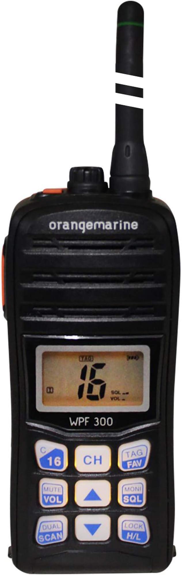 Orangemarine Wpf 300 Portable Waterproof Floating Handheld Vhf Radio Sport Freizeit