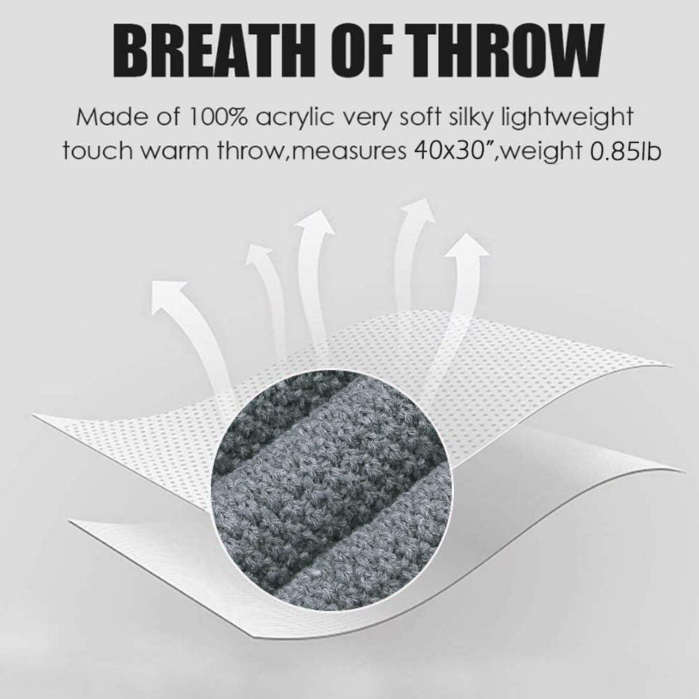 mimixiong Manta de Punto 100/% acr/¨/ªlico y trenzado para beb/¨/¦ 80x100 cm gris