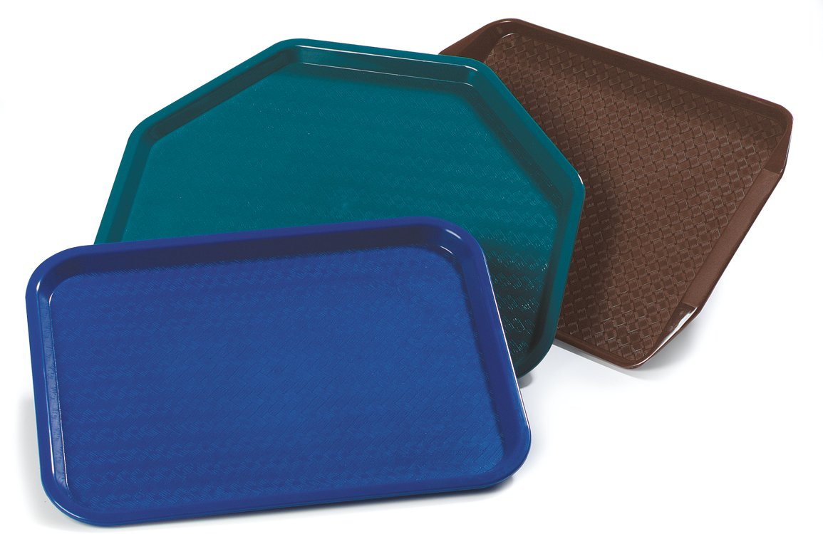 Carlisle CT141814 Café Standard Cafeteria / Fast Food Tray, 14'' x 18'', Blue (Pack of 12) by Carlisle (Image #8)