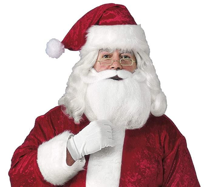 a96835e067bde Amazon.com  Rubie s Men s Santa Hat With Beard