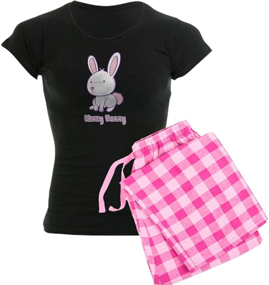 Comfortable PJ Sleepwear CafePress-Honey Bunny Womens Dark Pajamas-Womens Novelty Cotton Pajama Set