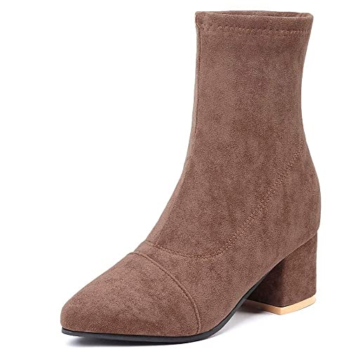 Zapatos Botas 2018 Calcetines Botas de Moda, Tacón Ancho, Botines Elásticos, Botas Martin