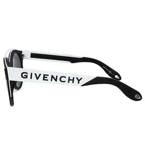 83e59271f0164 Amazon.com  Sunglasses Givenchy Gv 7017 N S 080S Black White IR gray blue  lens  Givenchy  Clothing