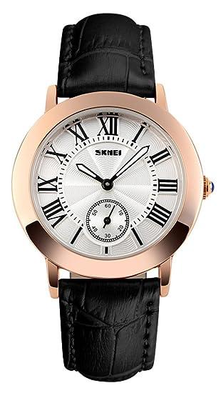 mastop mujeres reloj elegante Retro Relojes reloj de cuarzo muñeca de cuero mujeres relojes: Amazon.es: Relojes
