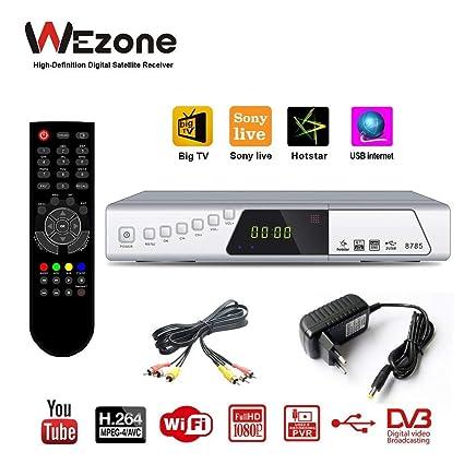 WEZONE TN 8785 1080 Full HD Digital Video Broadcasting Satellite TV  Receiver Set Top Box