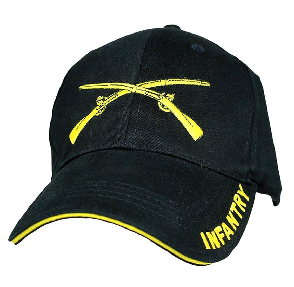 U.S Army Infantry Logo with Text Cap Black