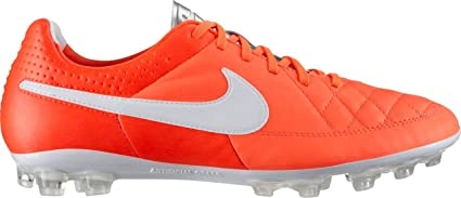 new product 65acf 82c7c Image Unavailable. Image not available for. Color  Nike Mens Tiempo Legacy  Total Crimson White Metallic Silver ...