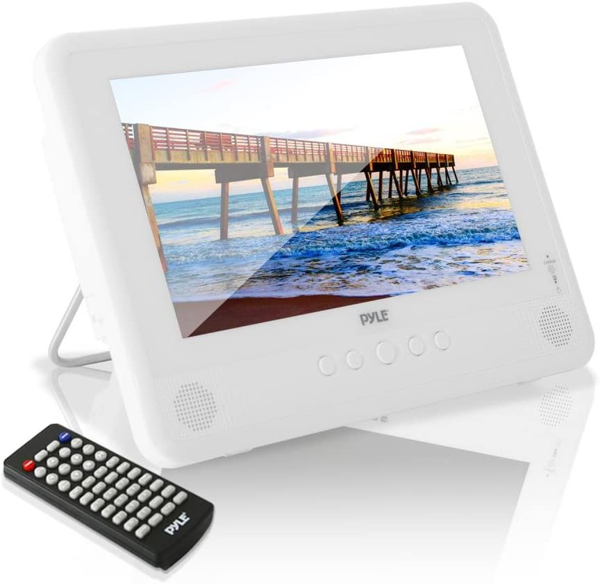 "Pyle 10.1"" Portable DVD Player IP67 Waterproof Car Headrest Backseat Mobile Marine with Ultra-Thin TFT HD Screen USB/SD Readers | Headphone Jack (PLMRDV104)"