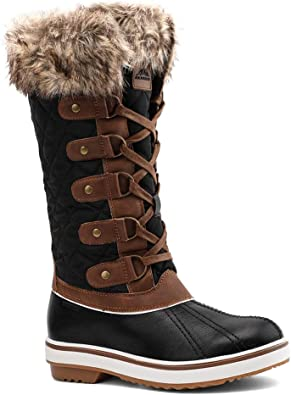 ArcticShield Womens Melissa Warm Waterproof Insulated Fur Collar Durable Winter Snow Boots