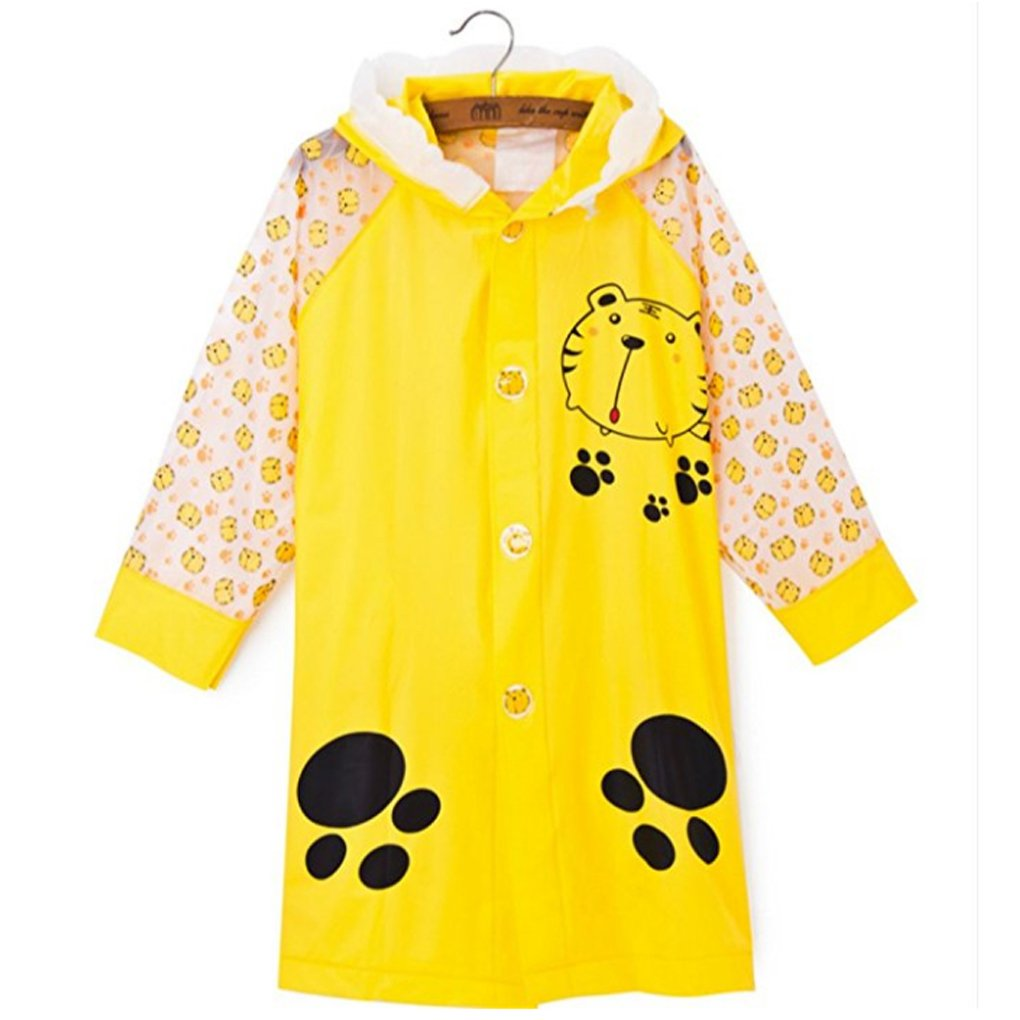 SILVERFEVER Rain Coat Poncho Kids Girls Boys School Bag Cover