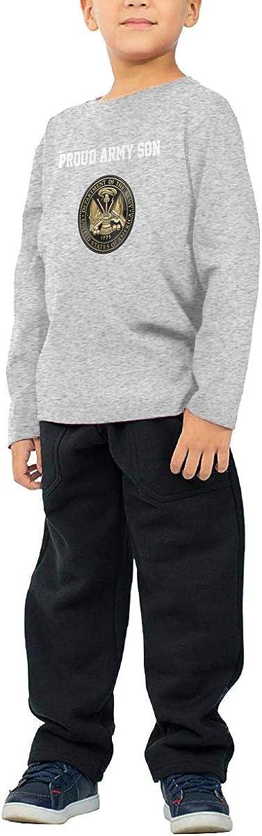 HADYKIDSLOVE U S Army Black Edition Kids T-Shirt Long Sleeve Boys Girls T-Shirt