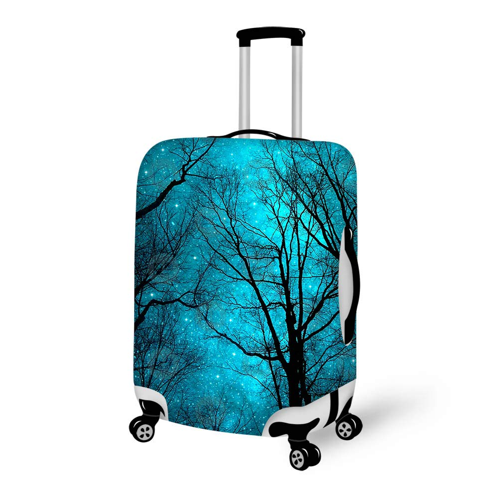 Luggage Cover Stars Cant Shine Without Darkness Forest Protective Travel Trunk Case Elastic Luggage Suitcase Protector Cover