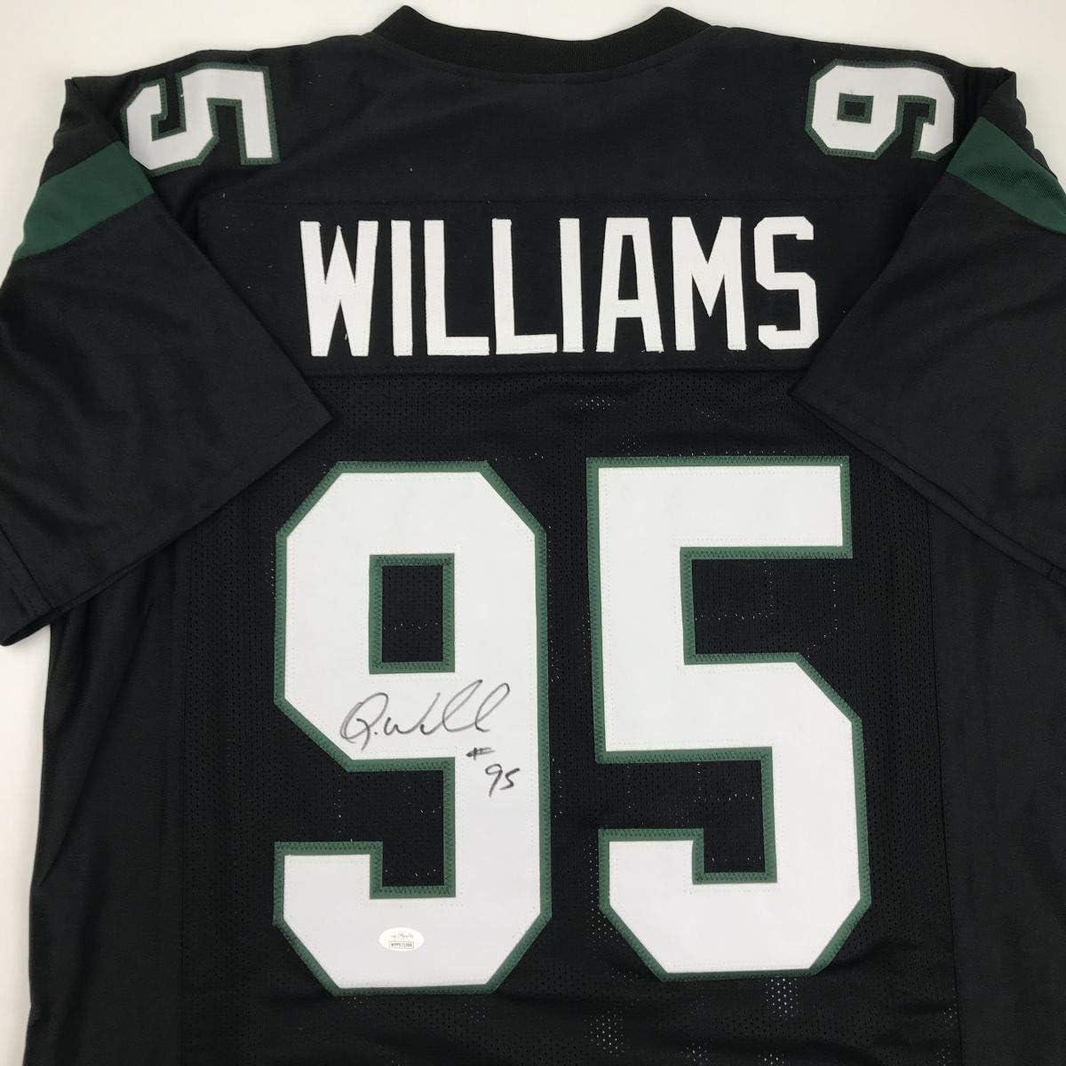 Autographed/Signed Quinnen Williams New York Black Football Jersey JSA COA