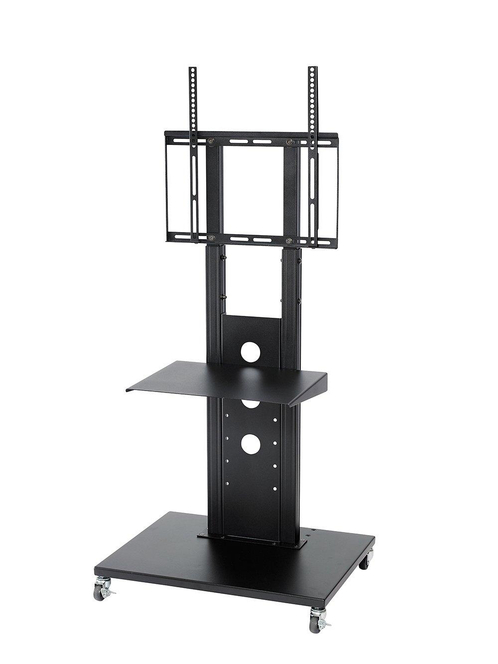 32型~52型液晶テレビ壁寄せスタンド OCF-450-3 (ブラック, 棚板付き) B01BXTTBFG 棚板付き|ブラック ブラック 棚板付き