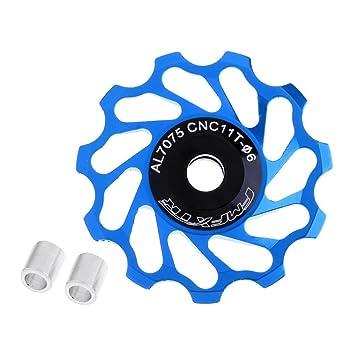 SGerste 11T MTB - Rodamiento de cerámica para bicicleta de carretera, polea de rueda de jockey, soporte 8/9/10/11 velocidades, color azul: Amazon.es: ...