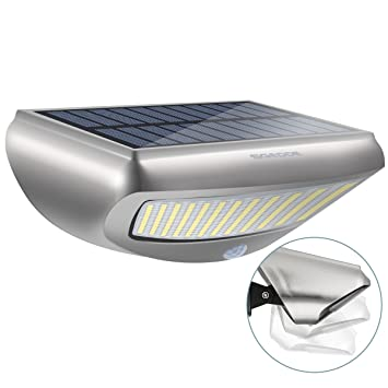 Lámpara Solar para Pared, SGODDE Luces Solares Sensor de Movimiento Impermeable 36 LED Cuentas de