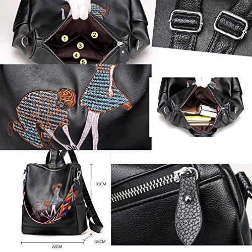 Art und Weise Mädchen-Beutel PU-lederner Beutel-beiläufiger Daypack-Frauen Rucksack # 02