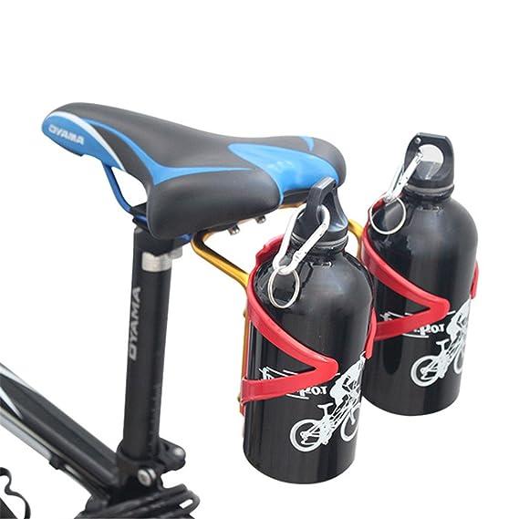 queenbox® ciclismo carretera bicicleta de montaña bicicleta aleación de aluminio botella de agua doble titulares estante estante (no incluyendo botellas de ...