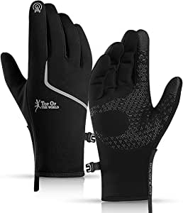 Home-Mart Cycling Touch Screen Outdoor Gloves,Windproof Winter Gloves, Waterproof Outdoor Jogging Skiing Hiking Running