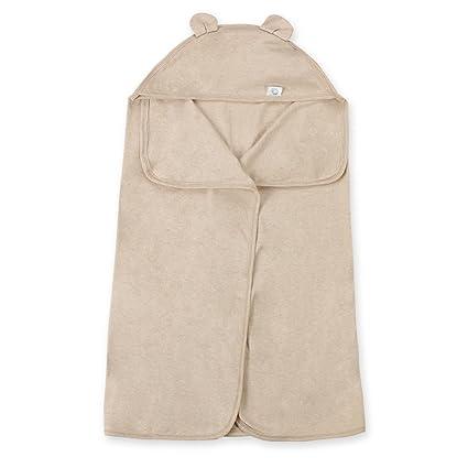 Hada bebé orgánico de color algodón toalla de baño con capucha Oversize caqui