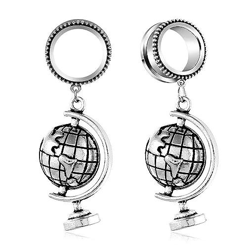 Amazon.com: JIAPEIJIA - dilatadores de oreja con diseño ...