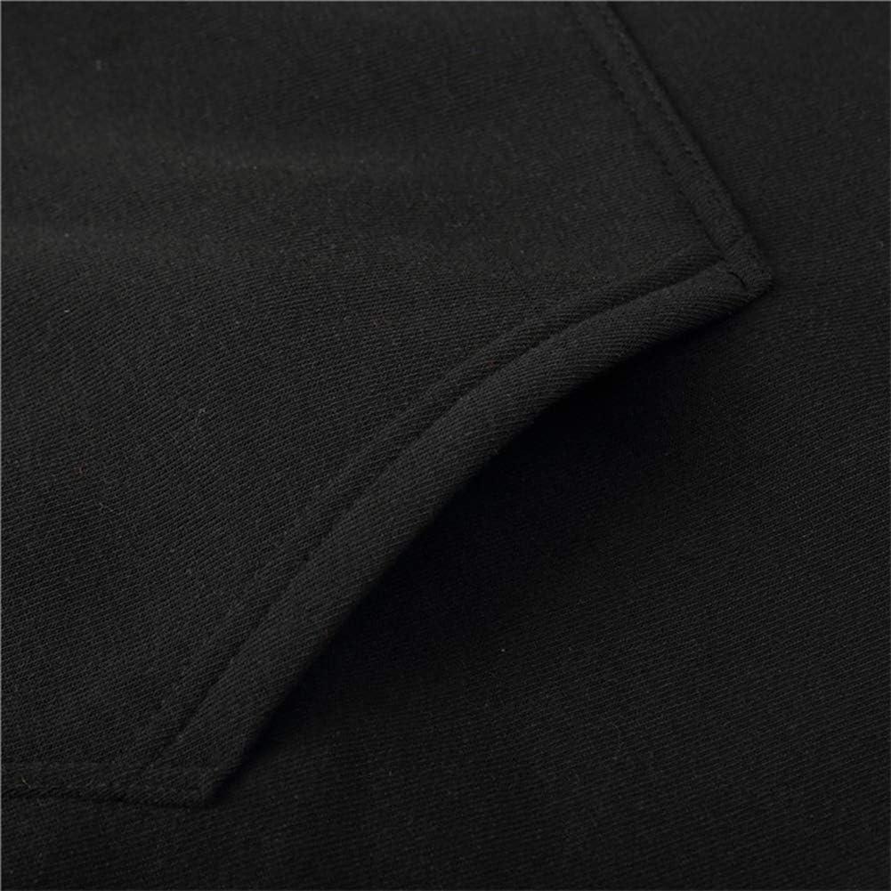 WHOME Sweatshirt Kapuzenpullover Hot Casual Sportswear Herren Fußballtraining Kleidung Rugby Kleidung Herren Sportswear Black(#22)