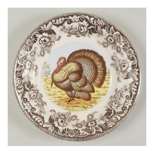 Spode Woodland Lunch Dessert Plates 8 Count Coated Paper ()