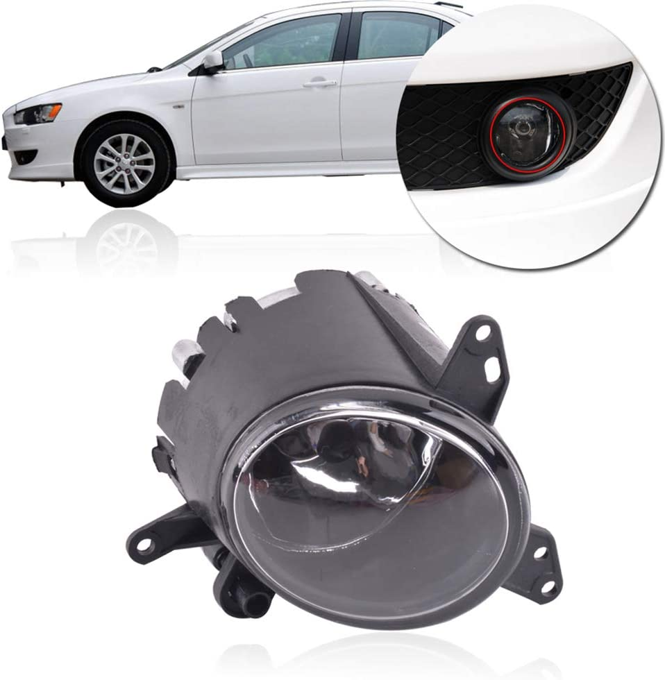 Regard L Right Side Clear Lens Fog Light Car Driving Lamp Replacement 8321A264 8321A108 compatible with Mitsubishi Lancer 2008-2012