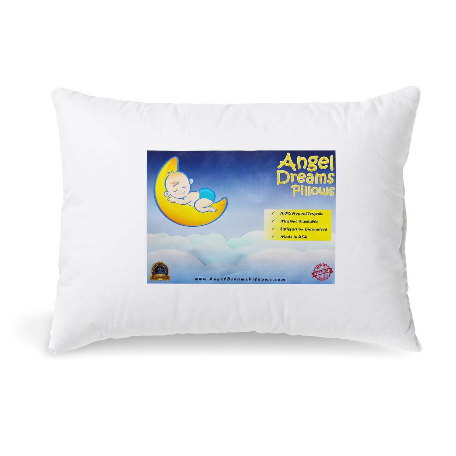 Toddler Pillow 13x18 Hypoallergenic - MADE IN USA