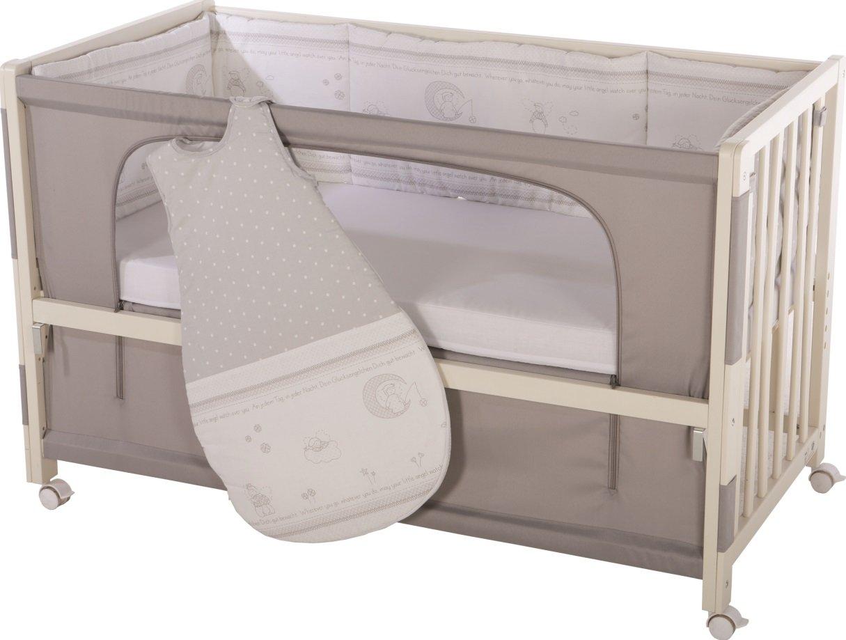 roba Roombed, Babybett 60x120 cm 'Adam & Eule', Beistellbett zum Elternbett mit kompletter Ausstattung 16300-3 P148