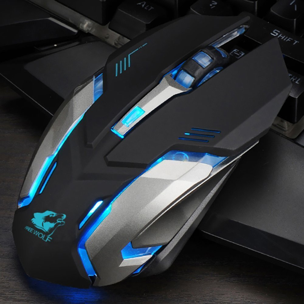 LexonElec Wireless Ergonomic Mouse X7 2.4GHz Rechargeable Silent Optical Pro Gamer Gaming Mice with USB Receiver, 7 Colors LED Backlit, 3 Adjustable DPI (800/1200/1600), 6 Buttons for PC (Black) by LexonElec® (Image #9)