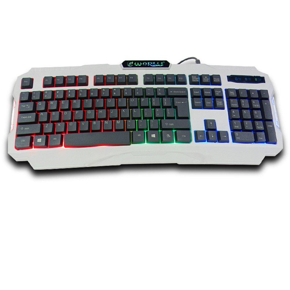 Warwolf K2 Gaming Keyboard Gamer Game Beleuchtete Elektronik Keybiard
