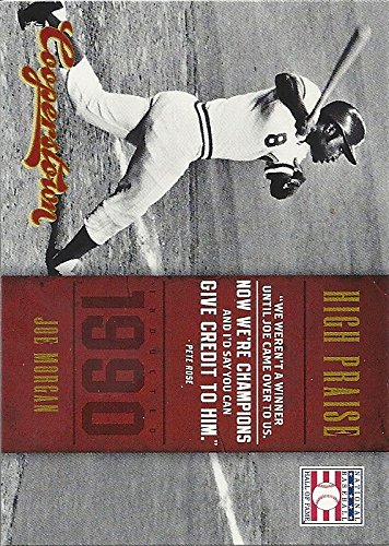 JOE MORGAN SPECIAL INSERT BASEBALL CARD NO. 13 - 2012 PANINI COOPERSTOWN BASEBALL (HALL OF FAME - HIGH PRAISE) FREE SHIPPING ()