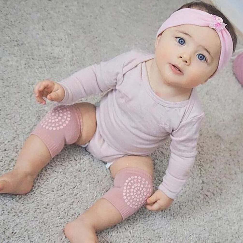 Multicolor Random NACOLA Baby Crawling Anti-Slip Knee,Unisex Baby Toddlers Kneepads-10 Pairs