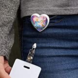 The Swan Princess Odette Jean-Bob Frog Puffin Speed Turtle Heart Lanyard Retractable Reel Badge ID Card Holder - White
