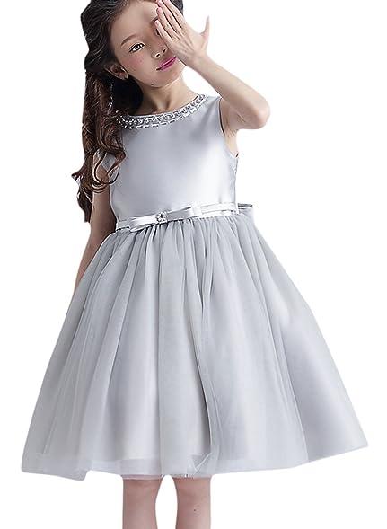 La Vogue Girls Princess Dress Formal Party Wedding Bridesmaid Tulle Dresses 10-11Y