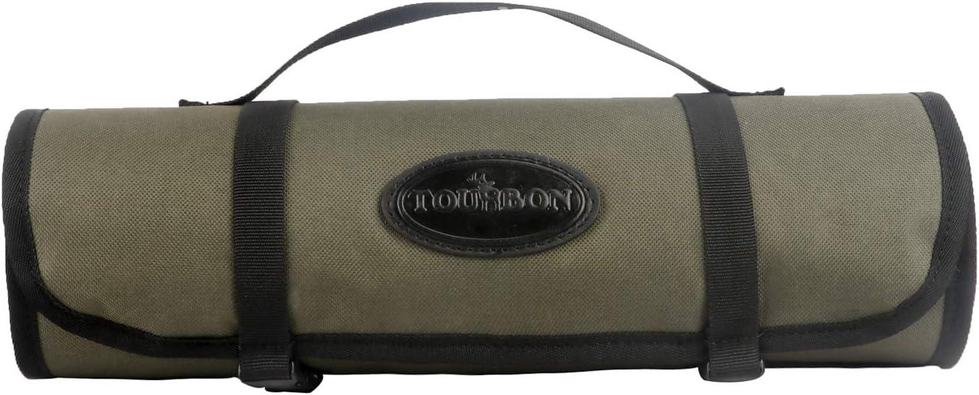 Tourbon Alfombrilla de Limpieza Enrollable para Pistola de Caza con Bolsillo de Almacenamiento para Herramientas