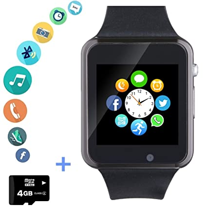Smartwatch Smart Watch Phone with SD Card Camera Pedometer Text Call Notification SIM Card Slot Music Player Compatible for Android Samsung Huawei LG ...