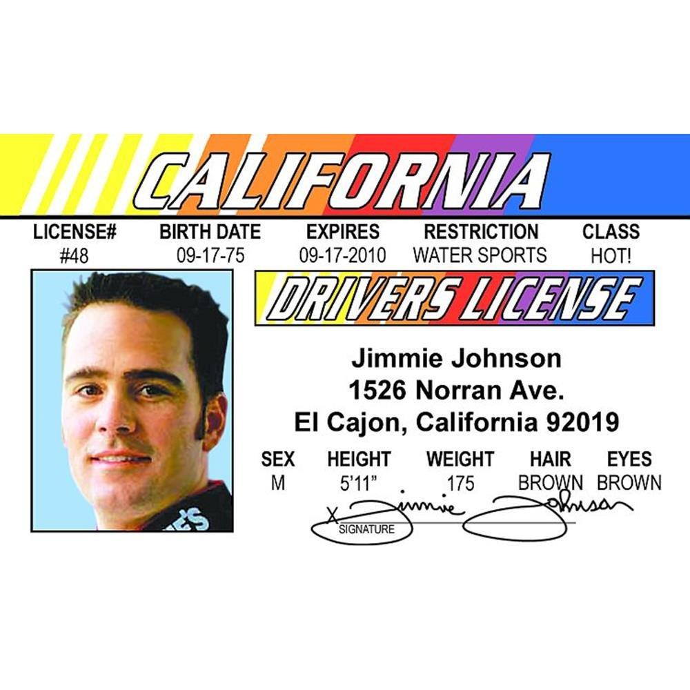 Signs 4 Fun Nridjj Jimmies Drivers License