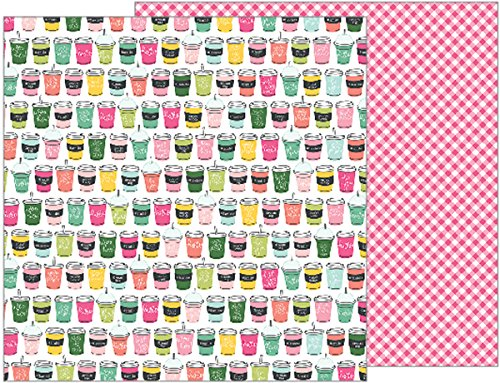 - American Crafts Pebbles Girl Squad 25 Pack of 12 x 12 Inch Paper Soda Shop, Piece