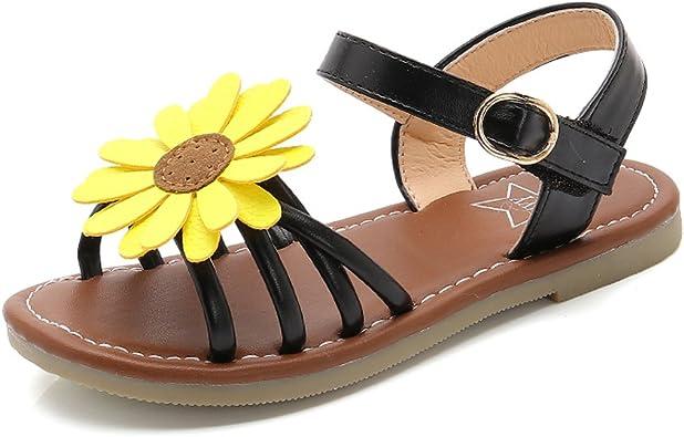 Litfun Kids Girls Cute Flower Open Toe Flat Strap Summer Sandals Toddler//Little Kid//Big Kid