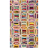 Safavieh Nantucket Collection NAN441A Handmade Abstract Geometric Multicolored Cotton Area Rug (2'3″ x 4′) Review