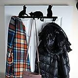 Evelots Over Door Hook/Hanger-Cat/Kitty-Coat/Towel/Purse-4 Iron Hooks-17 Inches