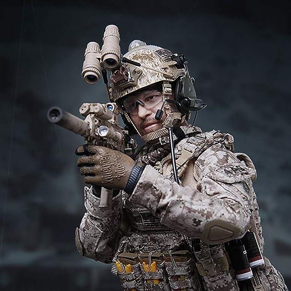 1//6 Scale Toy Suppresseur-Argent fusil d/'assaut Suppresseur